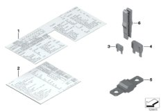 FUSEBOX FUSES AND LABELS